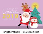 merry christmas and happy new... | Shutterstock .eps vector #1198035205