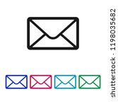 mail icon vector  envelope sign ... | Shutterstock .eps vector #1198035682