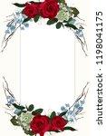 flower red  burgundy rose ... | Shutterstock .eps vector #1198041175