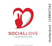 hand and love logo template... | Shutterstock .eps vector #1198047262