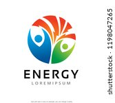 energy and people logo template ... | Shutterstock .eps vector #1198047265