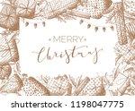 vector merry christmas... | Shutterstock .eps vector #1198047775