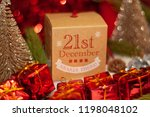 december 21th in advent...   Shutterstock . vector #1198048102