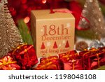 december 18th in advent...   Shutterstock . vector #1198048108