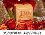 december 13th in advent...   Shutterstock . vector #1198048135