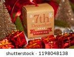 december 7th in advent...   Shutterstock . vector #1198048138