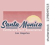 vintage tropical typography... | Shutterstock .eps vector #1198049215