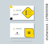 creative business card template ... | Shutterstock .eps vector #1198050508