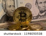 golden bitcoin digital money...   Shutterstock . vector #1198050538