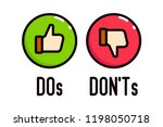 do and don't thumbs vector...
