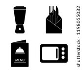 set of 4 simple vector icons... | Shutterstock .eps vector #1198055032