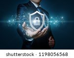 protection network security... | Shutterstock . vector #1198056568