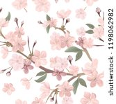 floral retro seamless pattern ... | Shutterstock .eps vector #1198062982