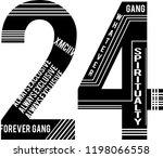 twenty four  whatever   t shirt ... | Shutterstock .eps vector #1198066558