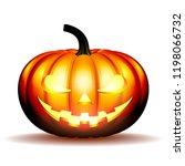 scary jack o lantern halloween... | Shutterstock . vector #1198066732