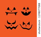 scary faces halloween | Shutterstock .eps vector #1198077088
