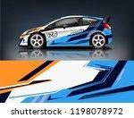 racing car wrap. abstract strip ... | Shutterstock .eps vector #1198078972