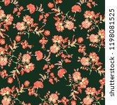 floral pattern illustration | Shutterstock .eps vector #1198081525