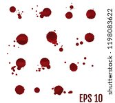 collection various blood or... | Shutterstock .eps vector #1198083622