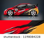 car decal wrap design vector.... | Shutterstock .eps vector #1198084228