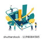 vector illustration of goal... | Shutterstock .eps vector #1198084585