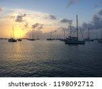 sunset on the sea   Shutterstock . vector #1198092712