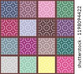 patchwork background with... | Shutterstock .eps vector #1198094422