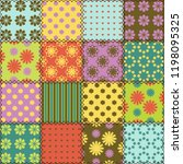 patchwork background with... | Shutterstock . vector #1198095325