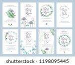 invitation cards. wedding... | Shutterstock .eps vector #1198095445