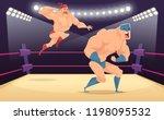 wrestler fighters cartoon.... | Shutterstock .eps vector #1198095532