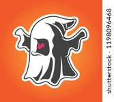 ghost halloween icon badge logo ... | Shutterstock .eps vector #1198096468