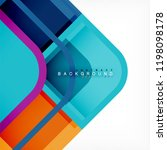 square geometric abstract... | Shutterstock .eps vector #1198098178
