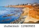 Sunset Cliffs Beach Coastline...