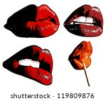 sexy lips | Shutterstock .eps vector #119809876