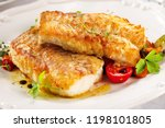 delicious fillets of grilled or ... | Shutterstock . vector #1198101805