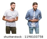 collage of young man wearing... | Shutterstock . vector #1198103758