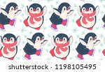 seamless pattern with cute... | Shutterstock .eps vector #1198105495