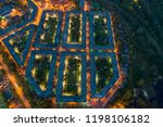 aerial drone view on... | Shutterstock . vector #1198106182