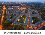 aerial drone view on... | Shutterstock . vector #1198106185