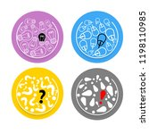 four colored circles with idea...   Shutterstock .eps vector #1198110985