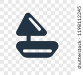sailboat vector icon isolated... | Shutterstock .eps vector #1198112245