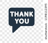 thank you vector icon isolated... | Shutterstock .eps vector #1198112395