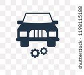 car with cogwheels vector icon... | Shutterstock .eps vector #1198115188