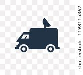 truck with an antenna on it... | Shutterstock .eps vector #1198115362