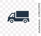 lorry side view vector icon... | Shutterstock .eps vector #1198115992