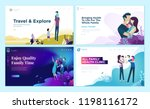 set of web page design... | Shutterstock .eps vector #1198116172