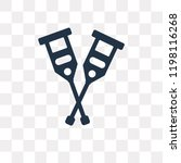 crutch vector icon isolated on... | Shutterstock .eps vector #1198116268