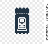 train ticket vector icon... | Shutterstock .eps vector #1198117342