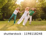 group of people practice tai... | Shutterstock . vector #1198118248