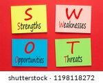 strengths  weaknesses ... | Shutterstock . vector #1198118272
